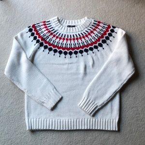 Necklace Fair Isle cotton sweater
